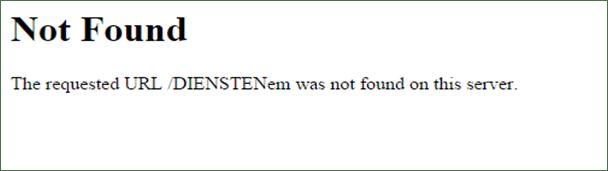 Slechte 404 pagina