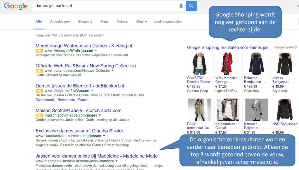 Google Adwords aanpassing desktop adverteren 2016