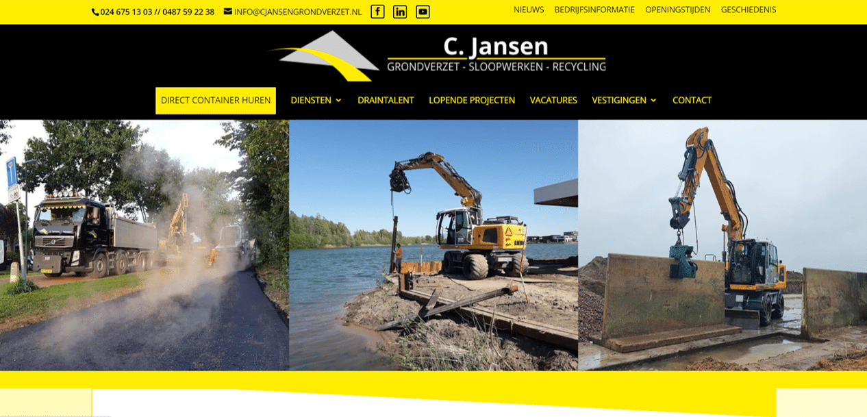 referentie website bouw wordpress
